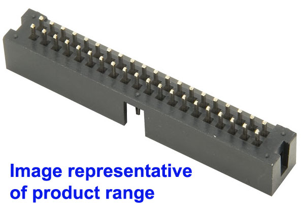 10 14 16 20 26 Ways IDC Straight Pin Boxed PCB Header Connectors 2.54mm