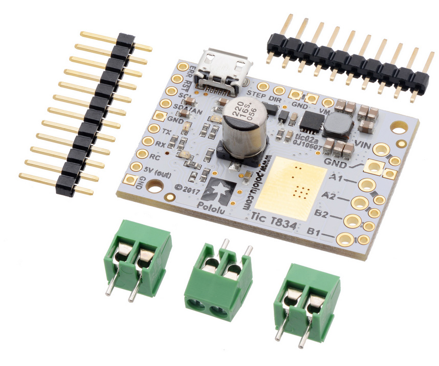 Pololu Tic T834 USB Multi-Interface Stepper Motor Controller