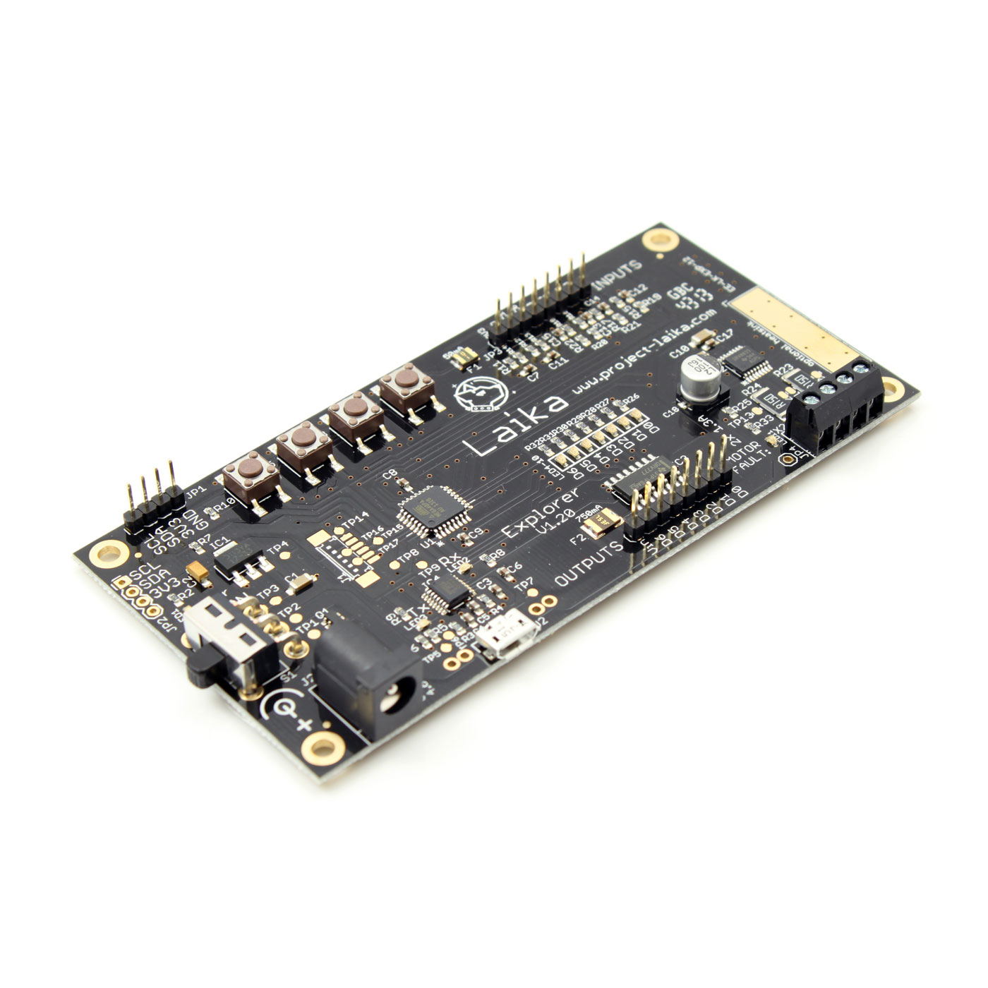 Laika Explorer Board Robotics For The Raspberry Pi Shield Dummies Experimental Analog Digital