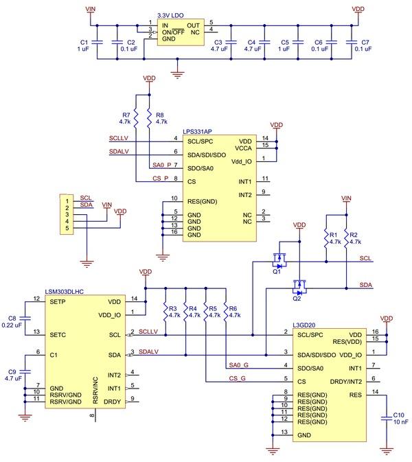 pololu altimu 10 gyro accelerometer compass and altimeter rh technobotsonline com Turn Coordinator Diagram Airspeed Indicator Diagram