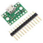 FPF1320 Power Multiplexer (Switch) + USB Micro-B Connector