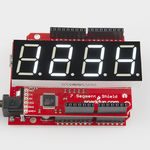 20mm Quad 7-Seg Serial I/F White LED Display Shield