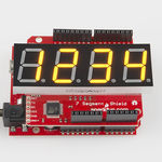 20mm Quad 7-Seg Serial I/F Yellow LED Display Shield