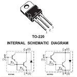 TIP126 80V 5A PNP Darlington Transistor