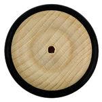 Wooden Wheel with Rubber Tyre, 43mm Diameter