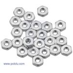 American 4-40 Hex Plain Nut pk/25