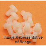 M4 x 6mm long Nylon Cheese Head Screw - Pack of 10