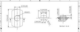 Makerbeam t-slot nut dimensions