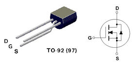 BS170 N Channel MOSFET 0.25A 28R 200V