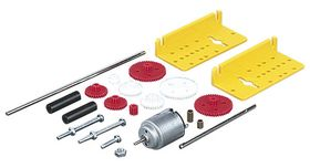 Multi-ratio Gearbox Kit and Motor with Plastic Brackets