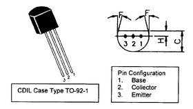 BC212L TO92 45V PNP Transistor