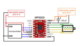 MP6500 Wiring with Digital Current Control