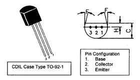 BC640 TO92 80V PNP Low Freq Transistor