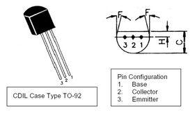 BC182L TO92 60V NPN Transistor