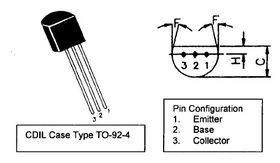 BC184 TO92 45V NPN Transistor