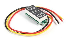 Yellow LED voltmeter