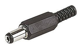 DC Power Plug 2.1mm x 5.5mm x 10mm Long
