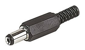 DC Power Plug 2.1mm x 5.5mm x 10mm Long