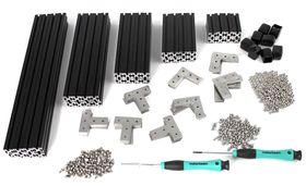MakerBeamXL - Regular Starter Kit in Black Anodised, Threaded