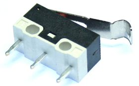 Subminiature microswitch with simulated roller lever
