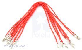 Pre-crimped Wire Female/Female 15cm Red