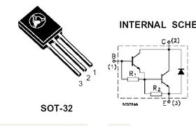 BD679 Darlington NPN 80V 4A TO-126 Transistor