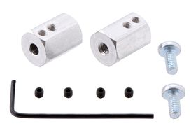Pololu 12mm Hex Wheel Adapter for 4mm Shaft, Pack of 2