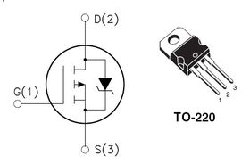 STP80PF55 P Channel MOSFET 55V 80A