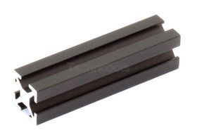 MakerBeam - 40mm Long Black Anodised Beam, Threaded