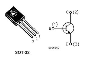 BD238 SOT-32 PNP Power Transistor