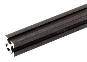 MakerBeam - 300mm Long Black Anodised Beam, Threaded