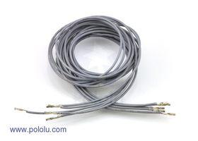 Pre-crimped Wire Female/Female 90cm Grey