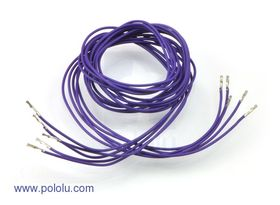 Pre-crimped Wire Female/Female 90cm Purple