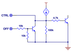 OFF and CTRL input structures of Pushbutton Power Switch with Reverse Voltage Protection