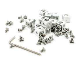 MakerBeam - Corner Cube Kit in Clear - Pack of 12 with Hex Key