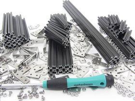 MakerBeam - Starter Kit in Black Anodised, Threaded