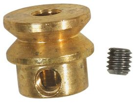 10mm Brass Pulley with Grub Screw