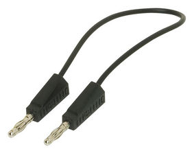 4mm Banana Stackable Test Lead, 500mm in Black