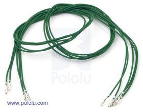 Pre-crimped Wire Female/Female 60cm Green