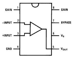 LM386N-4 Low Power Audio Amplifier 1W 8-Pin DIP