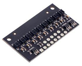 Reflectance Sensor QTRX-HD-09RC, 9 Channel, 4mm Pitch, RC (Digital) Output