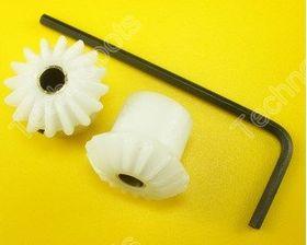 Plastic Bevel Gear Pair 4mm