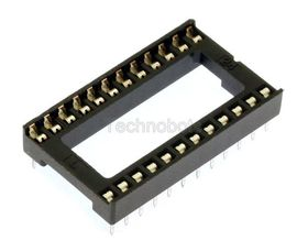 Low Profile 0.6 inch DIL IC Socket 24 Pin
