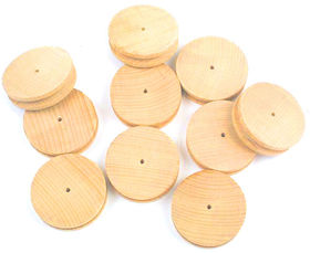 60mm Wooden Pulley Pack of 10
