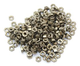 MakerBeam - M3 Stainless Steel Plain Nuts of 250