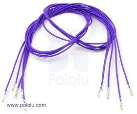 Pre-crimped Wire Female/Female 60cm Purple