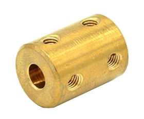 Solid brass shaft coupling