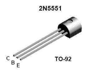 2N5551 160V TO92 0.6A NPN Transistor
