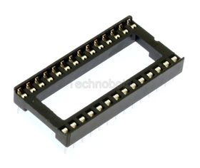 Low Profile 0.6 inch DIL IC Socket 28 Pin