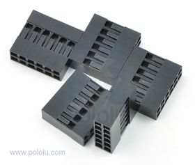 2x6-Way Crimp Housing for Pre-Crimped Wires